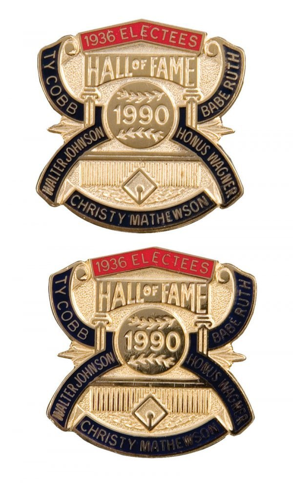506: Group of Hall of Fame Induction Pins (2)