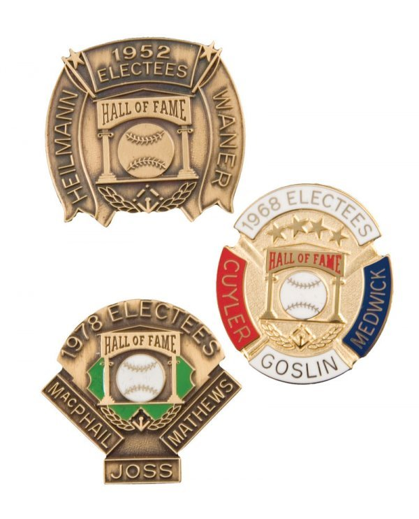 507: Group of Hall of Fame Induction Pins (3)