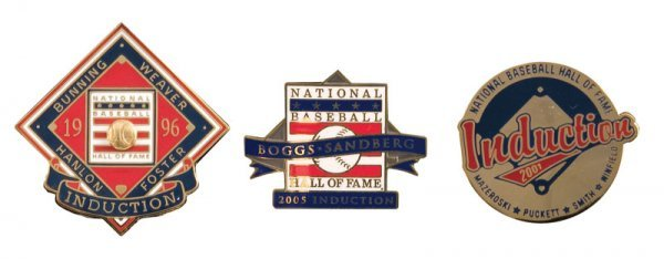 508: Group of Hall of Fame Induction Pins (3)