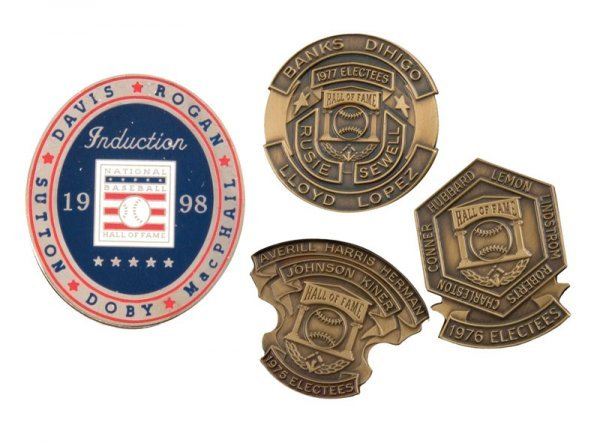 509: Group of Hall of Fame Induction Pins (4)