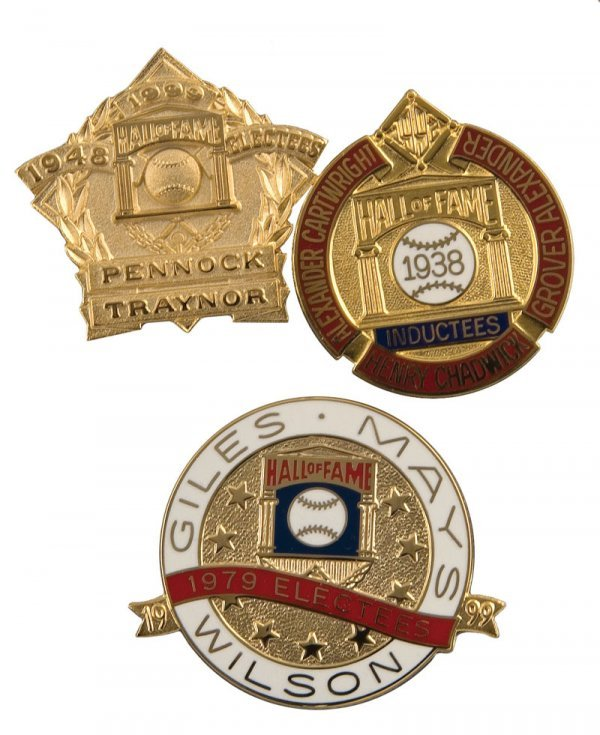 510: Group of Hall of Fame Induction Pins (3)