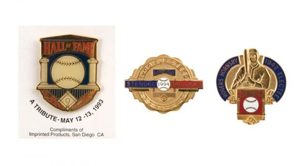 511: Group of Hall of Fame Induction Pins (3)