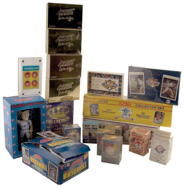 517: Collection of Unopened Baseball Card Packs and Set