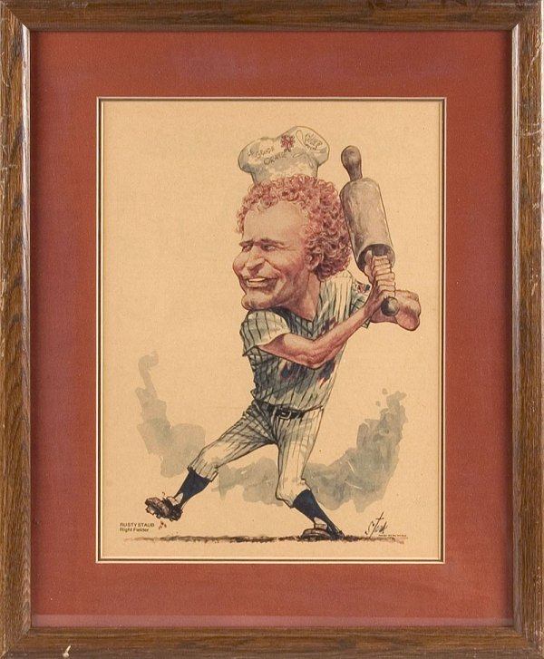 523: Two Rusty Staub Caricatures by Bruce Stark - 2