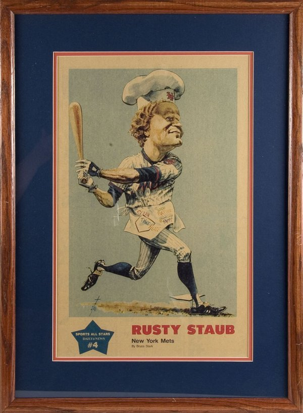 523: Two Rusty Staub Caricatures by Bruce Stark - 3