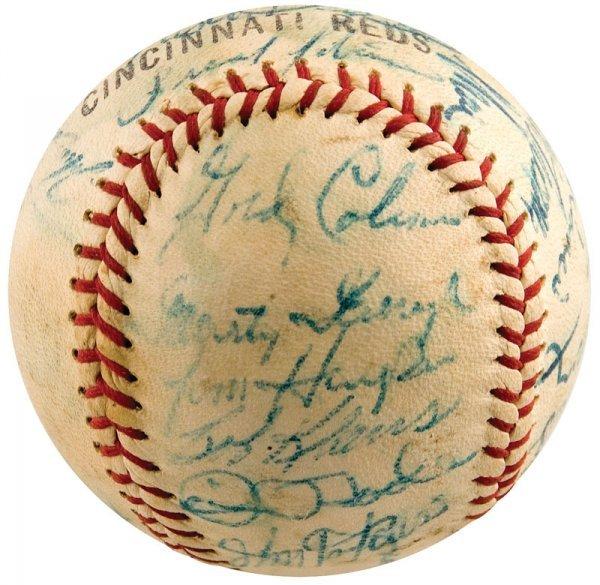 743: 1963 Cincinnati Reds Signed Baseball Pete Rose Roo - 2
