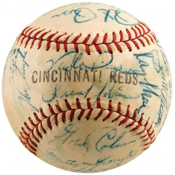 743: 1963 Cincinnati Reds Signed Baseball Pete Rose Roo - 4