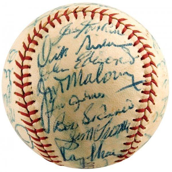 743: 1963 Cincinnati Reds Signed Baseball Pete Rose Roo - 5