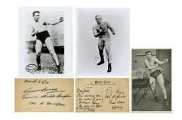 796: Boxing James J. Jeffries & Tommy Burns Ink Signatu