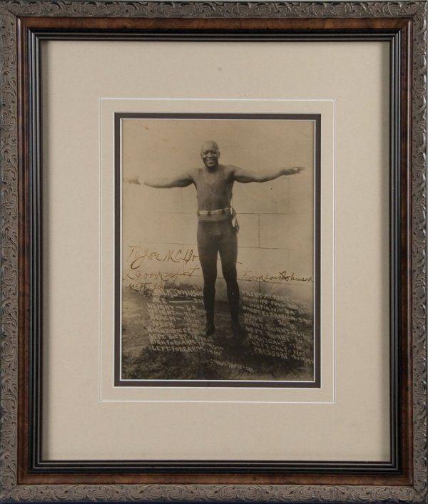 Boxing Jack Johnson Signed Photograph