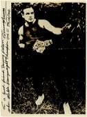 873: Tommy Burns Autographed BoxingPhoto