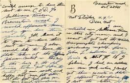 874: Boxing Tommy Burns Hand Written Letter