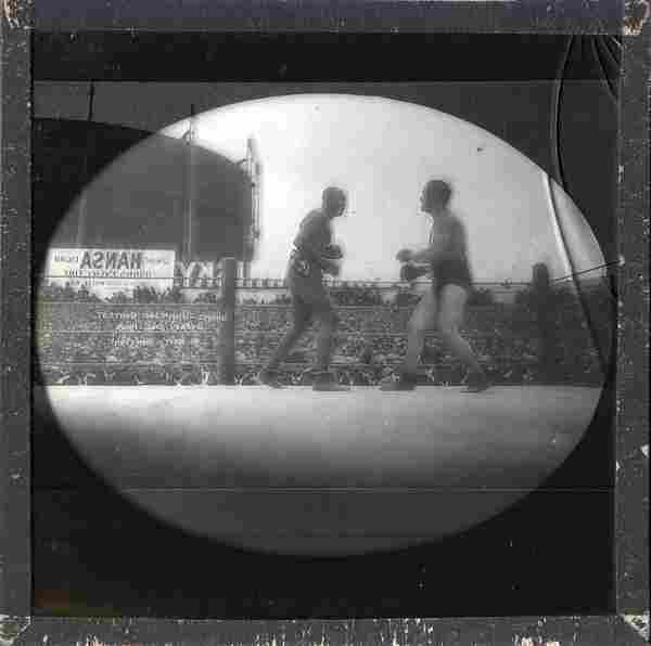 1905 Jack Johnson /Burns Glass Boxing Slides