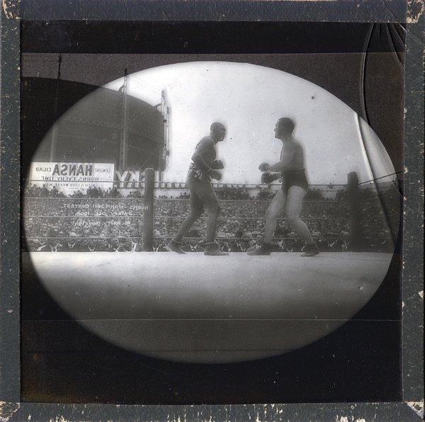 4: 1905 Jack Johnson /Burns Glass Boxing Slides