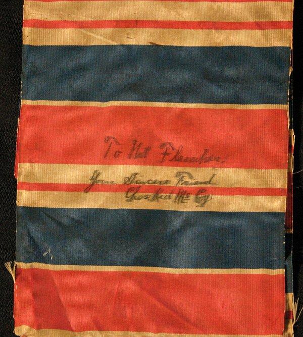 8: 1900s Kid McCoy Autographed Boxing Sash LOA
