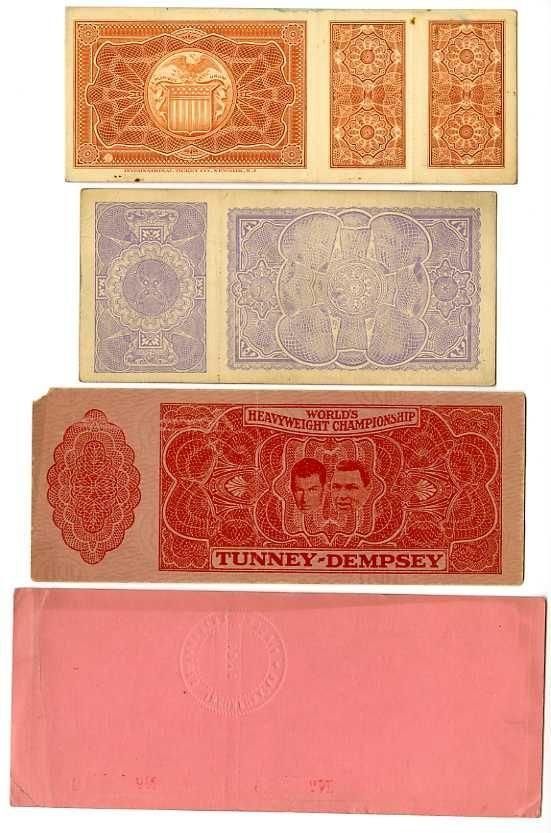 10: 1920s 4 Full Jack Dempsey Boxing Tickets LOA - 2
