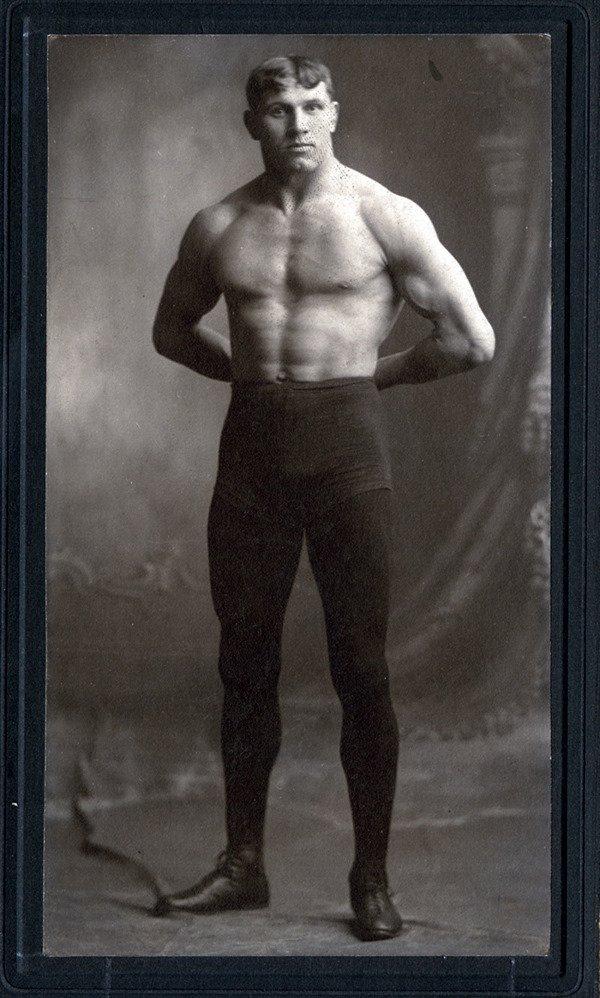 11: 10 Original Wrestling Cabinet Cards 1800s  LOA