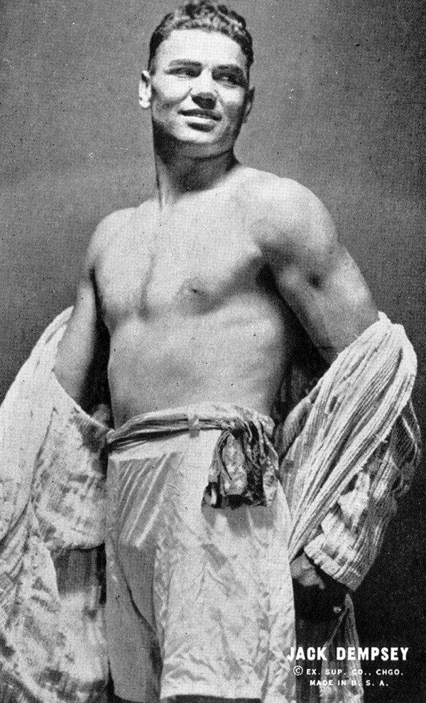 12: 1930 117 Exhibit Boxing Cards Jack Dempsy LOA