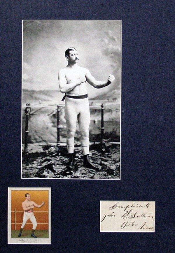 21: Signatures of Boxers Sullivan and Corbett LOA