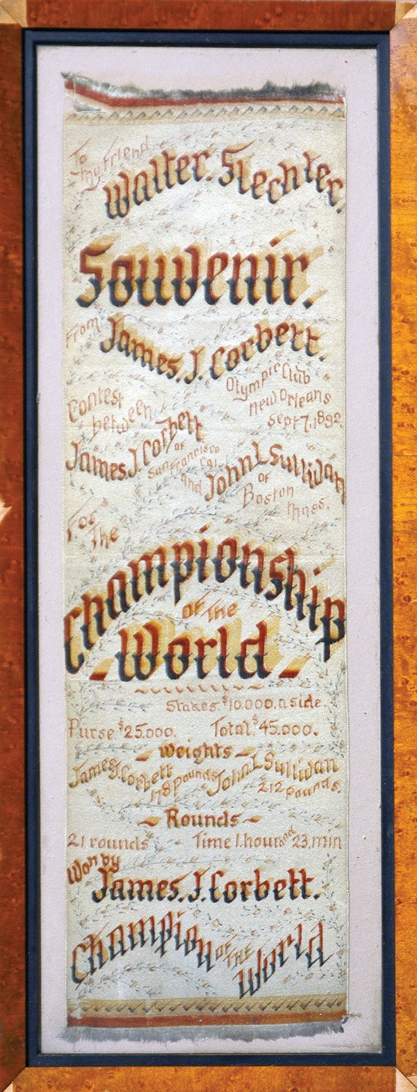 23: James J. Corbett vs John L. Sullivan Silk LOA