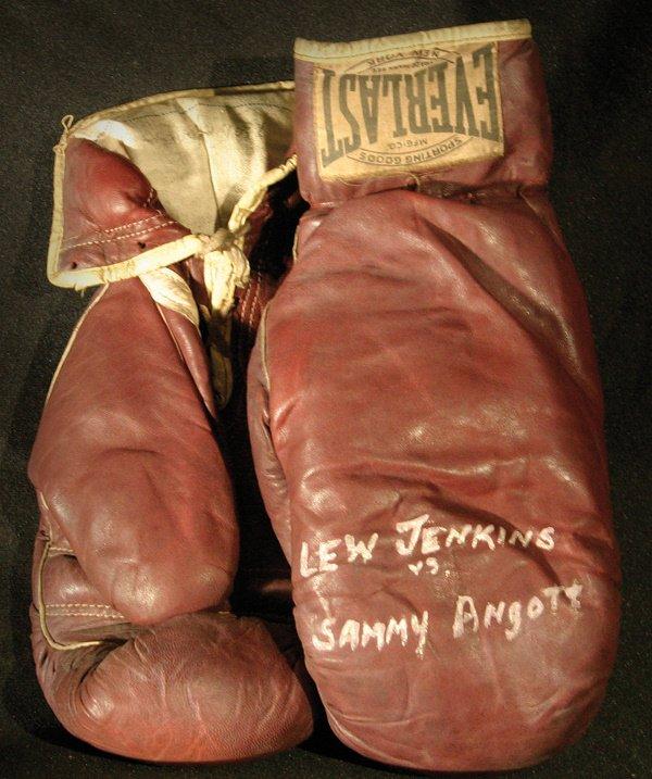 93: Jenkins & Angott Fight Worn Boxing Gloves LOA