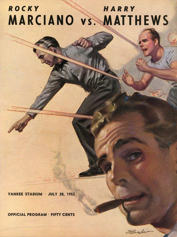 146: 3 1952-54 Rocky Marciano Boxing Programs