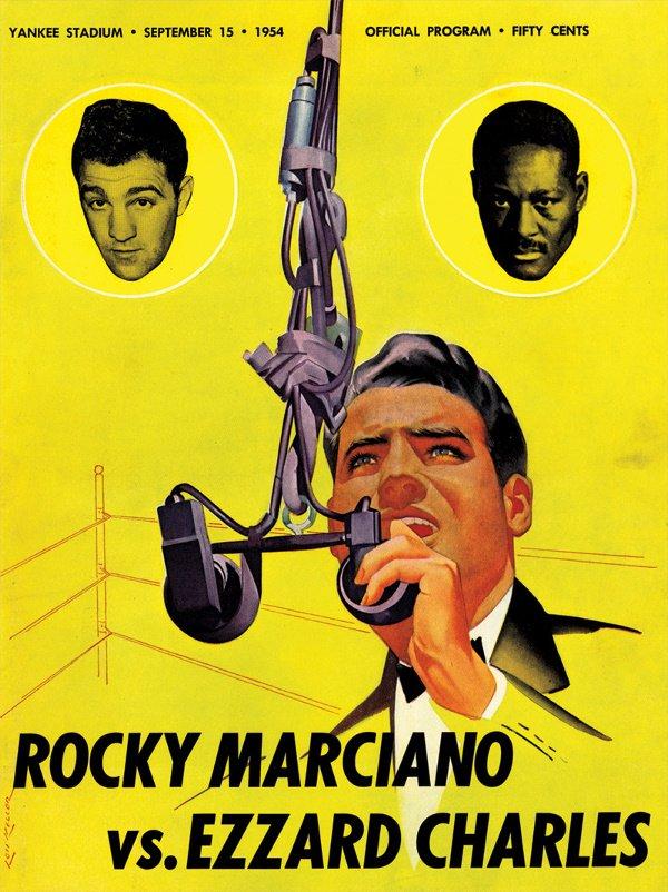 146: 3 1952-54 Rocky Marciano Boxing Programs - 2