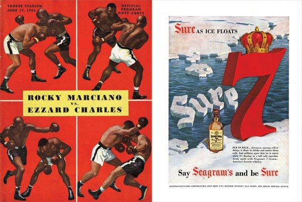 146: 3 1952-54 Rocky Marciano Boxing Programs - 3