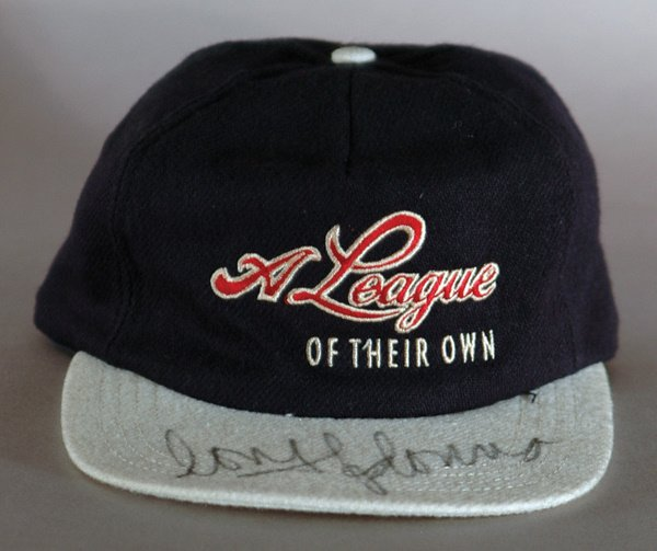 "339: League Of Their Own"" Signed Bat Hat  Poster LOA"