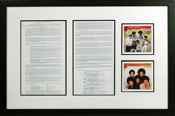 349: 1978 Michael Jackson and Five Signed Contract LOA