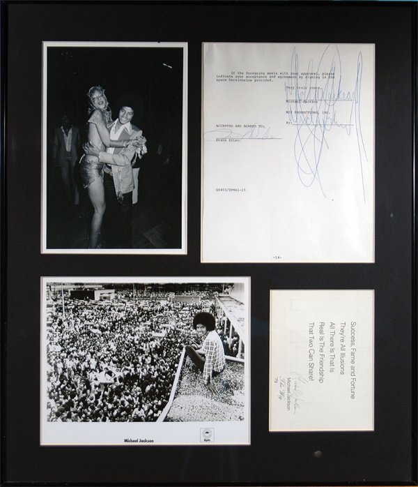 350: Personal Contract signed Michael Jackson LOA