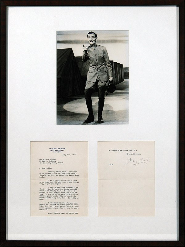 352: Irving Berlin Signed Type Written Letter