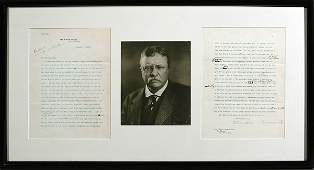 449: 1908 Pres. Theodore Roosevelt Signed Letter