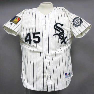 finest selection 997fd 9c23e 579: Michael Jordan Game Worn White Sox Jersey LOA