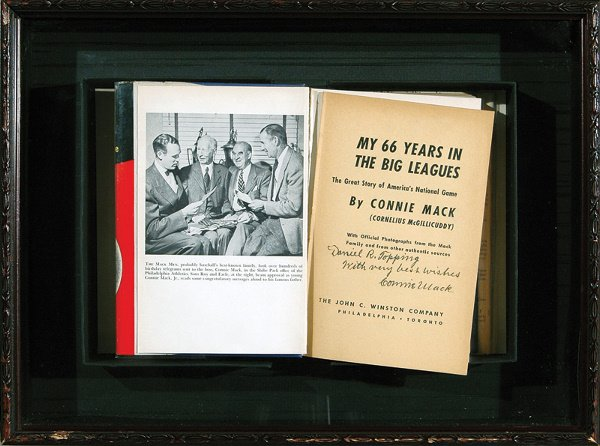 669: Connie Mack Inscribed Book to Dan Topping LOA
