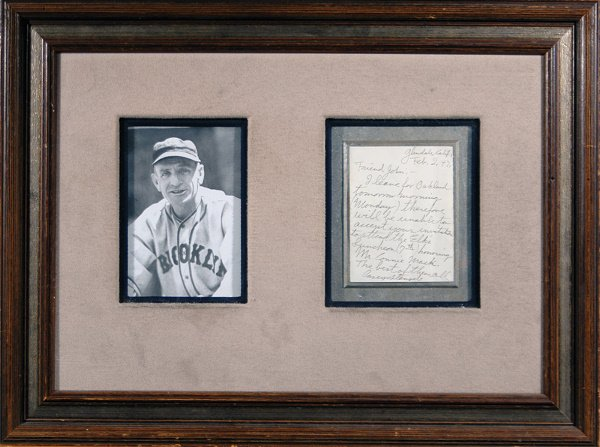 672: Casey Stengel Handwritten Letter and Photo LOA