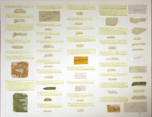 673: 59 Cut Signatures Baseball 1900-1950