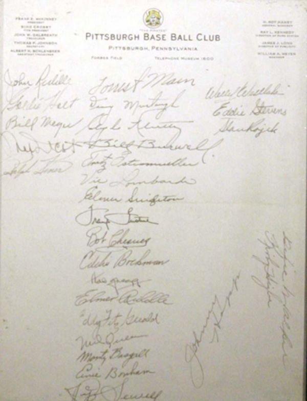 675: 8 1940's Signatures with Murtaugh Mack Murtaugh
