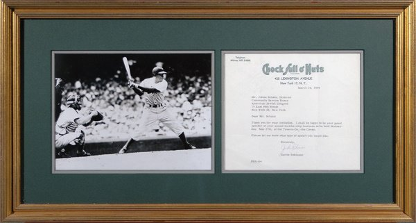 678: Jackie Robinson Signed Letter with Photo LOA