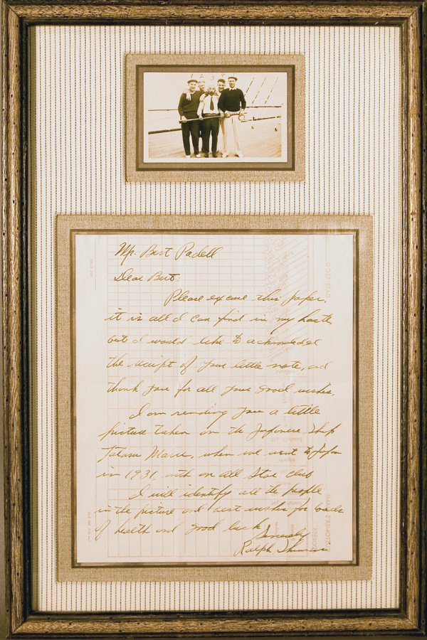 679: Ralph Shimers Signed Letter to Bert Padell LOA