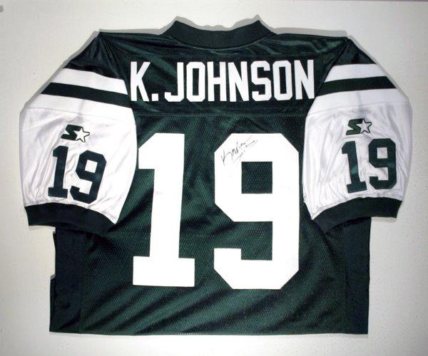 745: Keyshawn Johnson Signed Jets Jersey LOA