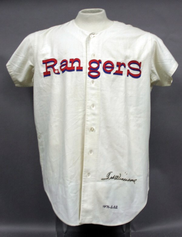 874: Ted Williams 1971 Senators~Rangers Jersey LOA