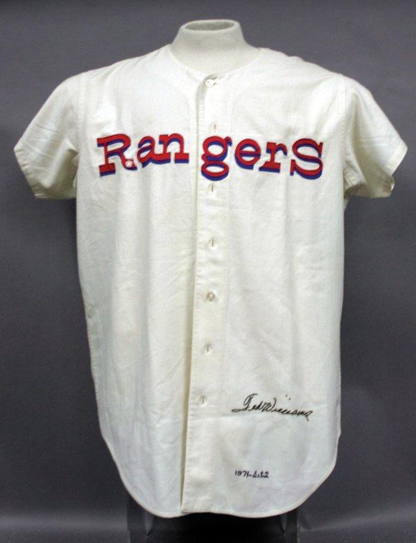 874: Ted Williams 1971 Senators~Rangers Jersey LOA