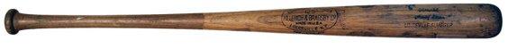 986: 1959 Hank Aaron Game Used Autographed Bat