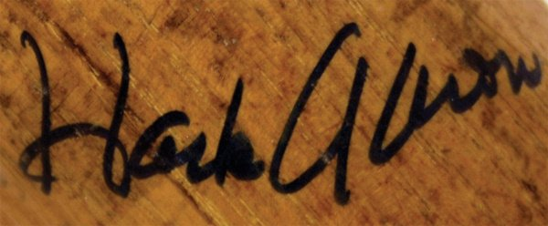 986: 1959 Hank Aaron Game Used Autographed Bat  - 2