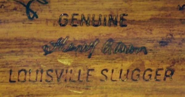 986: 1959 Hank Aaron Game Used Autographed Bat  - 4