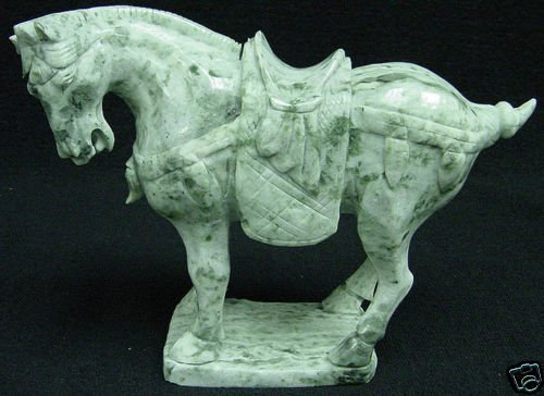 Royal Jade Saddled Tang Horse
