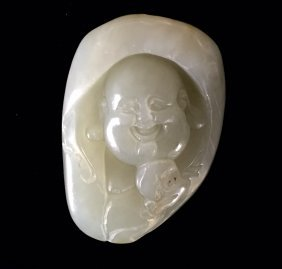A Jade Pandent Of Laughing Buddha