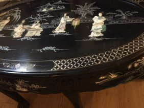 A Chinese Table With Mother Pearl Inlay
