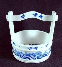 Porcelain Blue and White Bucket Vase